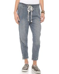 Free People Easy Harem Jeans  - Lyst