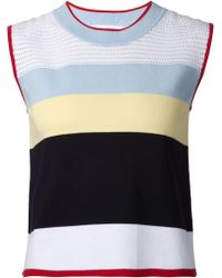 Thom Browne Bold Striped Tank Top - Lyst