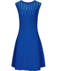 Reiss Kama Sheer-Stripe Dress - Lyst