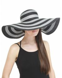 Helene Berman Striped Woven Sun Hat - Lyst