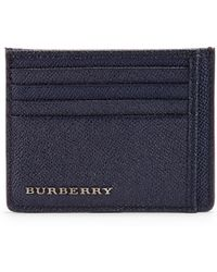 Burberry Bernie Leather Card Case blue - Lyst