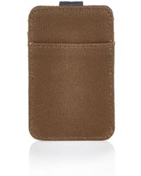 River Island | Light Brown Canvas Mix Cardholder Wallet | Lyst