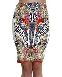 Versace Collection Skirt Pencil Printed Mahori - Lyst