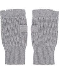 Marc By Marc Jacobs - Grey Knit Fingerless Gloves - Lyst