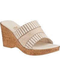 Onex For Jildor Arlynn Slide Sandal Natural Fabric - Lyst