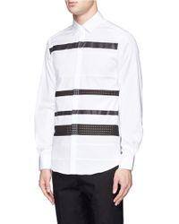 Neil Barrett Striped Effect Shirt - Lyst