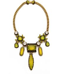 Erickson Beamon Queen Bee Necklace Green Multi - Lyst