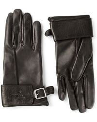 Golden Goose Deluxe Brand Black Buckled Gloves - Lyst