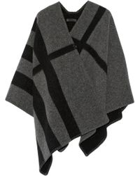 Burberry Prorsum - Checked Wool And Cashmere-Blend Cape - Lyst