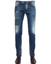 DSquared² 16.5Cm Cool Guy Fit Printed Denim Jeans - Lyst