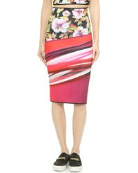 Clover Canyon Botanical Wave Reversible Pencil Skirt - Multi - Lyst