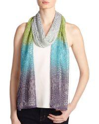Missoni Crocheted Striped Scarf - Lyst