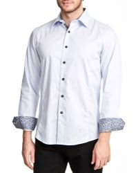 T.R. Premium - Solid Long Sleeve Button Down Shirt - Lyst