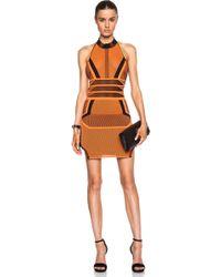 Alexander Wang Bi Color Mesh Halter Dress - Lyst