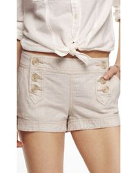 Express 2 Inch Linen Blend Sailor Shorts - Lyst