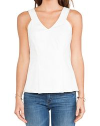 Rebecca Taylor Cut Out Tank - Lyst