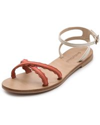 See By Chloé Scalloped Flat Sandals - Lyst