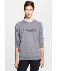 Rodarte 'Radarte' Barbed Wire Print Crewneck Sweatshirt - Lyst