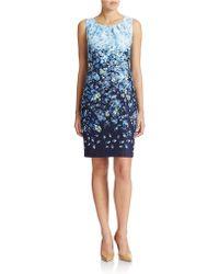 Chetta B - Ombre Floral Sheath Dress - Lyst