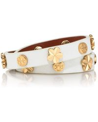 Tory Burch Flower Double Wrap Bracelet - Lyst