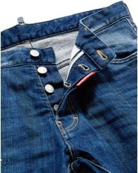 DSquared² 'Cool Guy' Paint Spot Distressed Jeans blue - Lyst