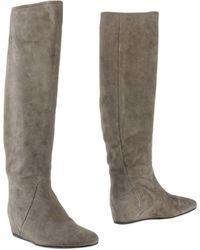 Lanvin Gray Boots - Lyst
