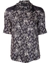 Marc Jacobs Floral Shirt Blouse - Lyst