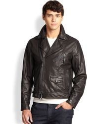Madison Supply Leather Moto Jacket - Lyst