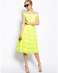 Asos Salon Prom Dress in Fluro Flower - Lyst