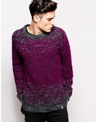 Diesel Purple Chunky Knit - Lyst
