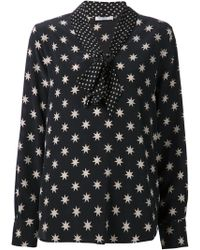 Equipment Bow Collar Star Print Blouse - Lyst