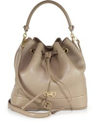 Ferragamo | Millie Leather Bucket Bag | Lyst