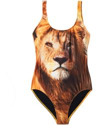 We Are Handsome - The Mighty Lion-Print Swimsuit - Lyst