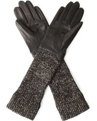 Jaeger - Wool And Leather 3/4 Length Glove - Lyst