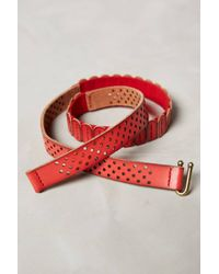Anthropologie Perforated Skinny Tab Belt - Lyst