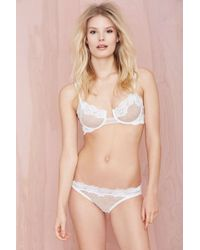 Nasty Gal Lonely Bonnie Lace Brief - Lyst