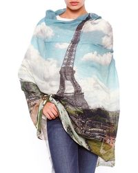 Lily and Lionel Blue Paris Scarf - Lyst