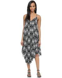 Felicite - Midi Dress - Black Ikat Print - Lyst