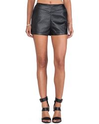 Bb Dakota Hanson Faux Leather Short - Lyst