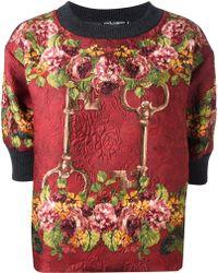 Dolce & Gabbana Patterned Floral Print Sweatshirt - Lyst