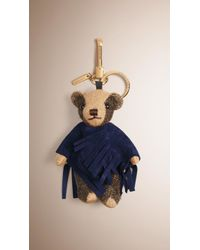 Burberry - Thomas Bear Charm With Suede Poncho - Lyst