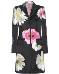 Thom Browne Chesterfield Embroidered Satin Coat multicolor - Lyst