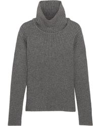 1205 - Ribbed Wool Turtleneck Jumper - Lyst
