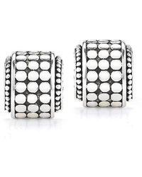 John Hardy Pre-Owned: Half Circle Silver Earrings - Lyst