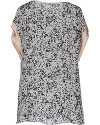 Giles Gray Blouse - Lyst