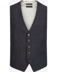 Ted Baker Checked Wool Suit Vest - Lyst