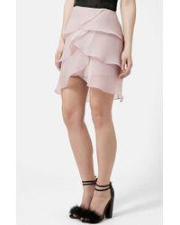 Topshop Organza Petal Skirt purple - Lyst