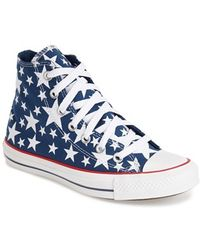 Converse Chuck Taylor All Star 'Multi Star' High Top Sneaker blue - Lyst