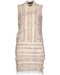 Elie Saab Beige Short Dress - Lyst