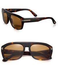 Tom Ford   58mm Square Acetate Sunglasses   Lyst